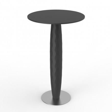 Table haute Vases, Vondom noir Diamètre 60 cm