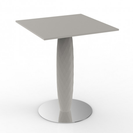 Table haute Vases, Vondom ecru Diamètre 60 cm
