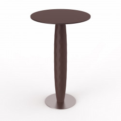 Table haute Vases, Vondom bronze 60x60 cm