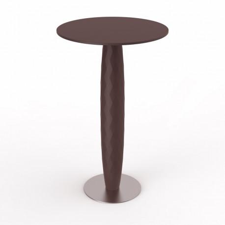 Table haute Vases, Vondom bronze 60x60 cm