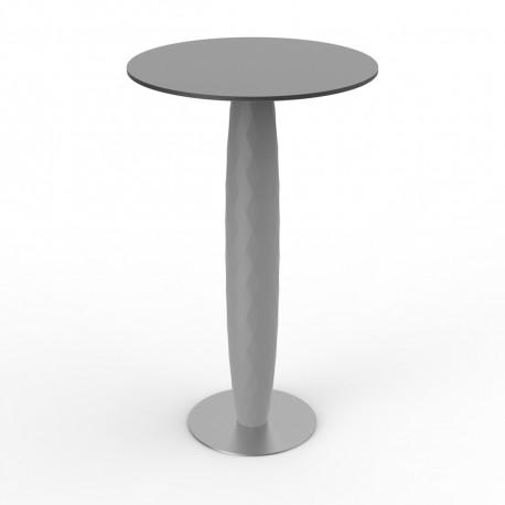 Table haute Vases, Vondom acier 60x60 cm