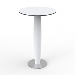 Table haute Vases, Vondom blanc 60x60 cm