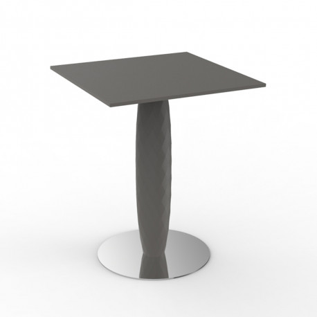 Table haute Vases, Vondom taupe 60x60 cm