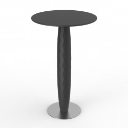 Table haute Vases, Vondom anthracite Diamètre 70 cm