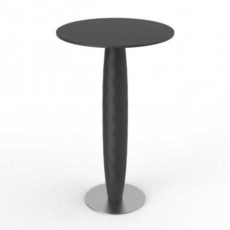 Table haute Vases, Vondom anthracite Diamètre 70 cm
