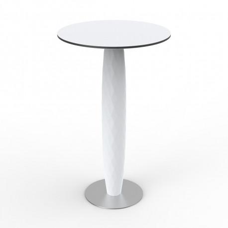Table haute Vases, Vondom blanc Diamètre 70 cm