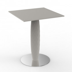 Table haute Vases, Vondom ecru Diamètre 70 cm