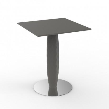 Table haute Vases, Vondom taupe Diamètre 70 cm