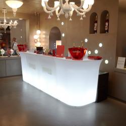 Elément droit Jumbo Bar lumineux, Slide Design blanc