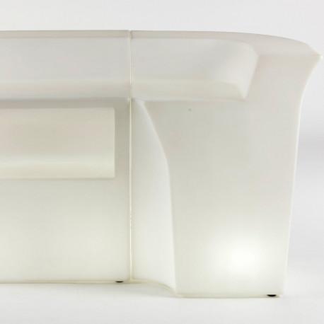 Elément d'angle Jumbo Bar lumineux, Slide Design blanc
