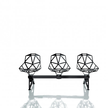Chaise One Systeme 2 - 3 places, Magis noir