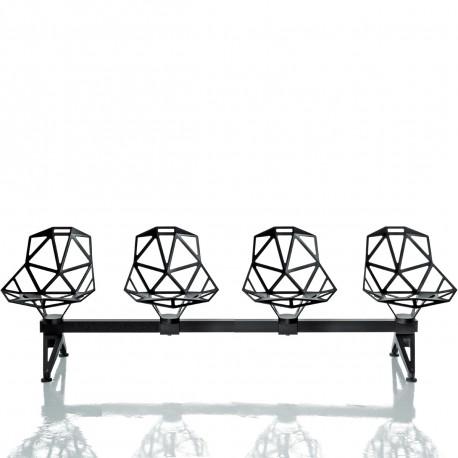 Chaise One Systeme 2 - 4 places, Magis noir