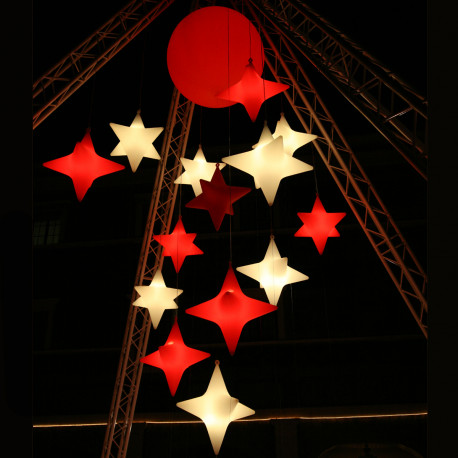 Suspension Starlight Outdoor, Slide Design rouge