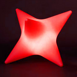 Tabouret lumineux Starlight, Slide design rouge