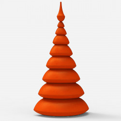 Lot de 2 Sapins Mats Christmust, MyYour orange rouge