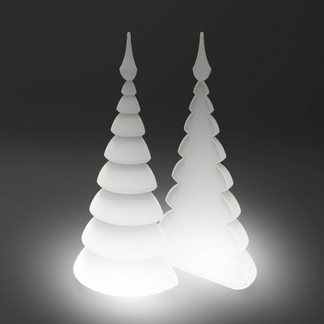 Lot de 2 Sapins Lumineux Blanc Christmust, MyYour blanc Lumineux indoor