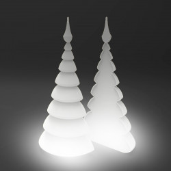 Lot de 2 Sapins Lumineux Blanc Christmust, MyYour blanc Lumineux outdoor