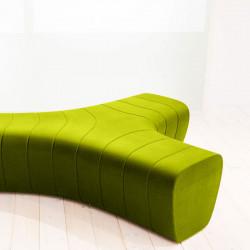 Banc modulaire Jetlag, Plust vert anis