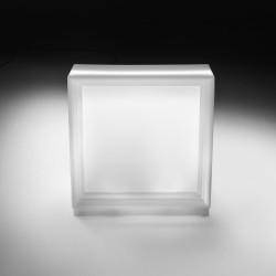 Bar modulable Dublin lumineux, élément droit, MyYour blanc