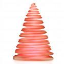 Sapin lumineux LED RGB Chrismy, Vondom blanc Hauteur 25 cm