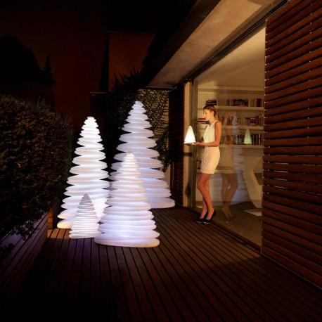 Sapin lumineux LED RGB Chrismy, Vondom blanc Hauteur 50 cm