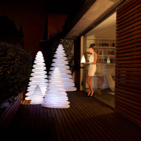 Sapin lumineux LED RGB Chrismy, Vondom blanc Hauteur 200 cm