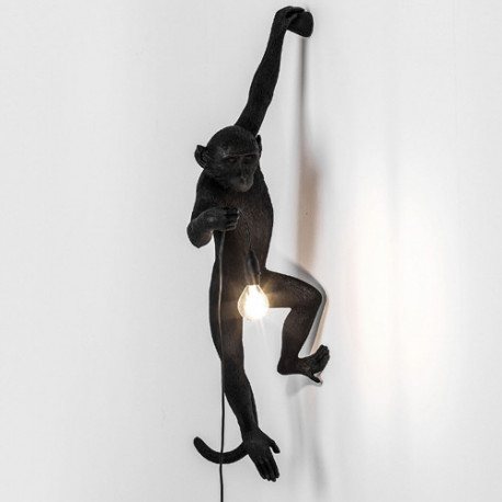 Applique Monkey Hanging, Seletti noir
