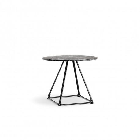 Table basse Lunar, Pedrali noir Diamètre 50 cm