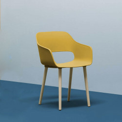 Chaise Babila Wood 2755, Pedrali jaune