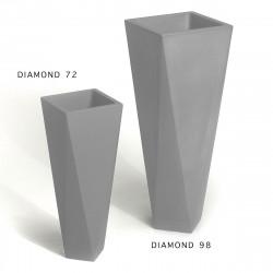 Pot Diamond 72, Plust gris acier Mat