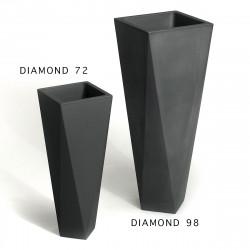 Pot Diamond 72, Plust noir perlé Mat