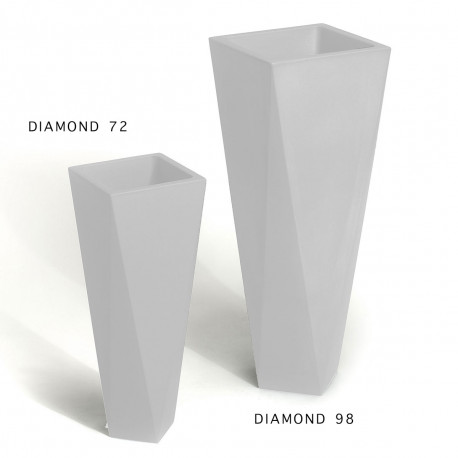 Pot Diamond 72, Plust blanc Laqué