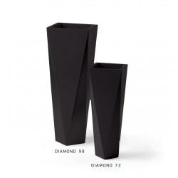 Pot Diamond 72, Plust noir Laqué