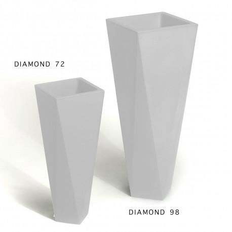 Pot Diamond 98, Plust blanc Laqué