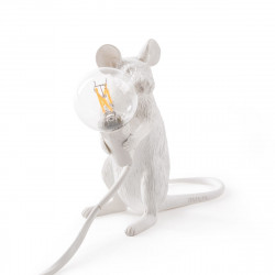 Lampe souris Mouse Sitting, Seletti blanc