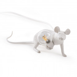Lampe à poser souris, Mouse Lie Down, Seletti blanc