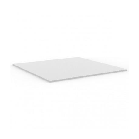 Plateau de table carré Mari-Sol ,Vondom blanc,bordure blanche 69x69 cm