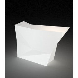 Bar latéral Faz, Vondom blanc Lumineux à ampoule