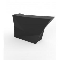 Banque d'accueil Origami, élément lateral, Proselec noir Mat