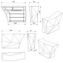 Banque d'accueil Origami, élément lateral, Proselec bronze Mat