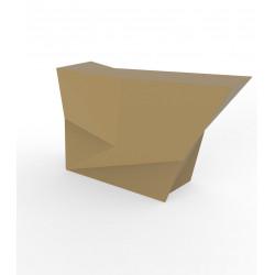 Banque d'accueil Origami, élément lateral, Proselec beige Mat