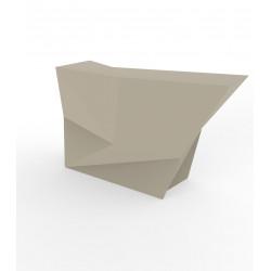 Banque d'accueil Origami, élément lateral, Proselec écru Mat
