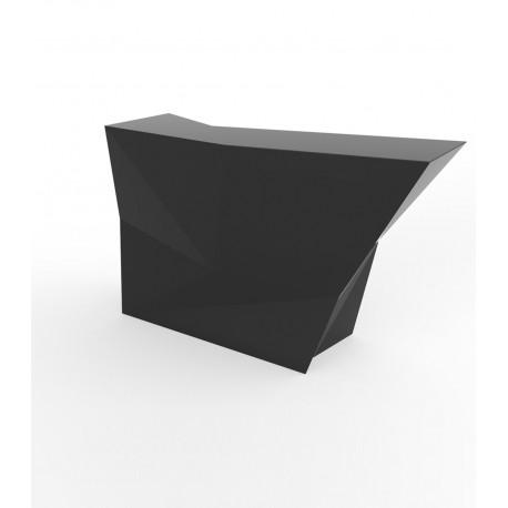 Banque d'accueil Origami, élément lateral, Proselec noir Laqué