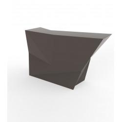 Banque d'accueil Origami, élément lateral, Proselec bronze Laqué