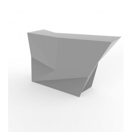 Banque d'accueil Origami, élément lateral, Proselec acier Laqué