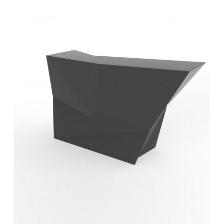 Banque d'accueil Origami, élément lateral, Proselec anthracite Laqué
