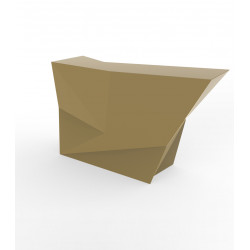 Banque d'accueil Origami, élément lateral, Proselec champagne Laqué