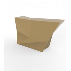 Banque d'accueil Origami, élément lateral, Proselec beige Laqué