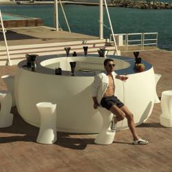 Elément d'angle Bar Design Fiesta, Vondom blanc Mat