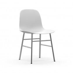 Form Chair Chrome, Normann Copenhagen Blanc